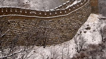 The Great Wall of China in Snow