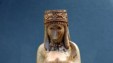Urartian Ivory Figure of a Nude Woman