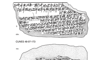 An Illustration of a Gilgamesh Tablet Fragment