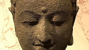 Head of a Buddha from Borobudur