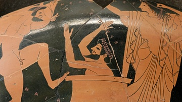 King Eurystheus Hiding from Hercules