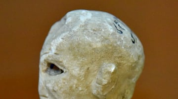 Head of a Sumerian Male from Tell Asmar [Left Side]
