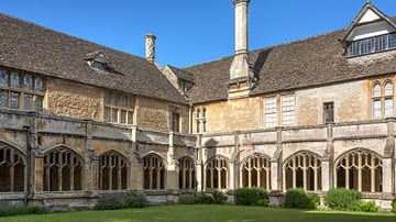 Cloister of Lacock Abbey, England