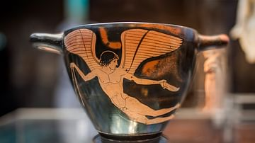 Red-Figure Cup with Eros Figure