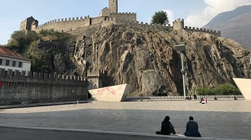 Castelgrande in Bellinzona, Switzerland