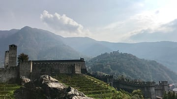 View of Castelgrande in Bellinzona