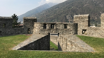 Entranceway to the Murata at Castelgrande in Bellinzona