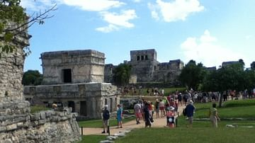 Temple of the Frescoes and El Castillo, Tulum