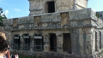 The Temple of the Frescoes, Tulum, Mexico
