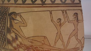 Odysseus Blinding the Cyclops