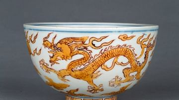 Ming Porcelain Bowl with Dragon
