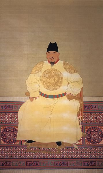 The Hongwu Emperor (by Unknown Artist, Public Domain)