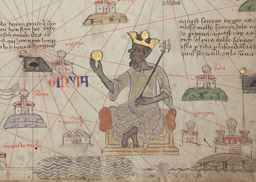 Mansa Musa of the Mali Empire (by Abraham Cresques, Public Domain)