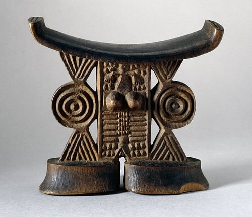 Shona Wooden Headrest (by The British Museum, Copyright)
