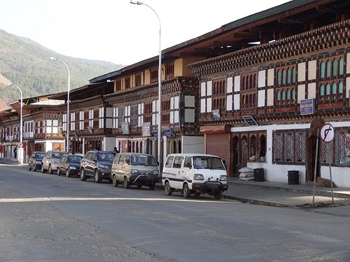 Distinctive Bhutanese Architecture in Paro.