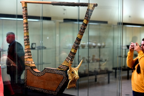 The Golden Lyre of Ur at the Iraq Museum