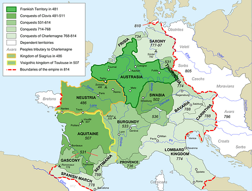 Map of Francia