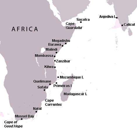 Swahili Coast Map
