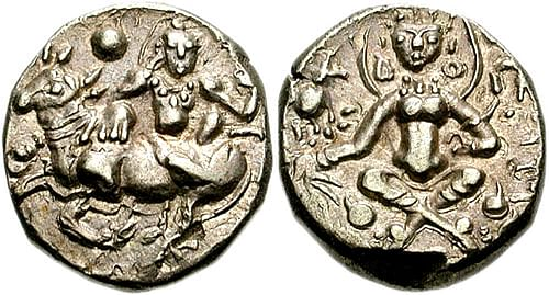 Coin of the Gauda King Shashanka (by CNG Coins, CC BY-SA)