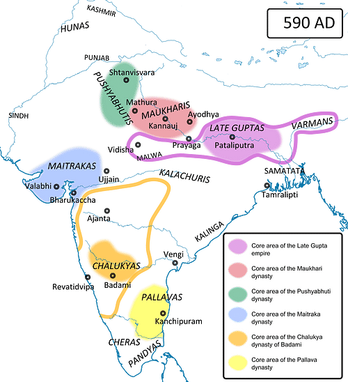 Ancient India in 590 CE
