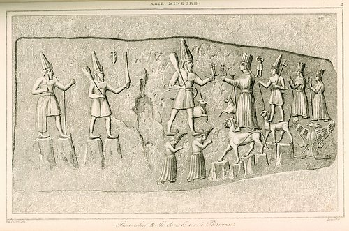 Yazilikaya Engraving with Hittite Gods