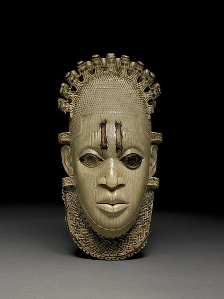 Benin Ivory Hip Pendant Mask (by The British Museum, Copyright)