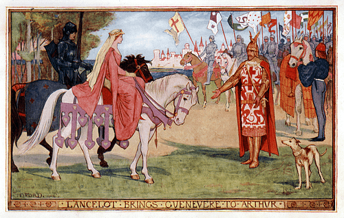 Lancelot Brings Guinevere to Arthur