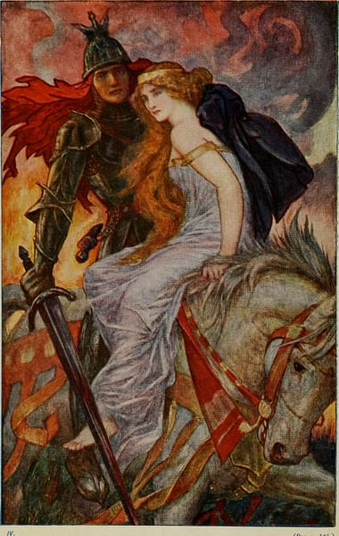 Guinevere and Lancelot (by Internet Archive Book Images)