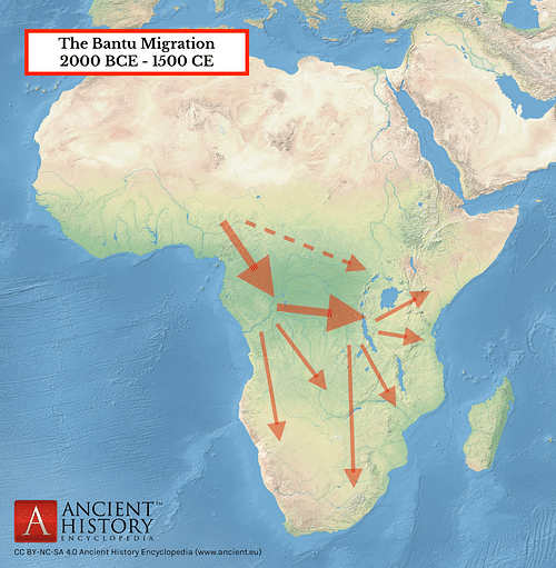 The Bantu Migration in Africa (by Mark Cartwright)