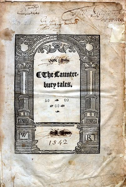 Title Page of Canterbury Tales (by University of Glasgow Library)