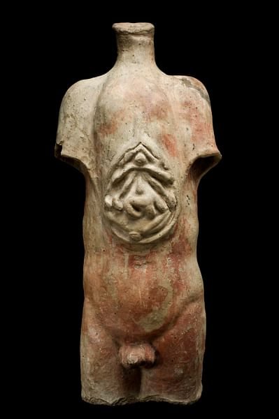 Roman Votive Male Torso, from Isola Farnese (by Science Museum)