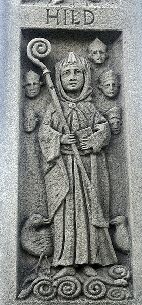 St. Hilda monument, Whitby (by Wilson44691)