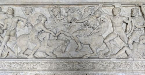 Greeks Battling Amazons
