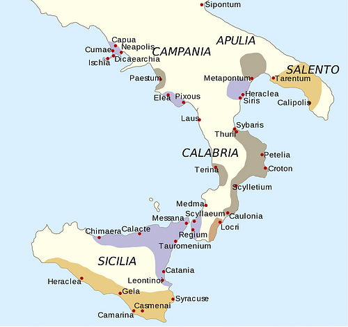 Tarentum Italy Map.Magna Graecia Ancient History Encyclopedia