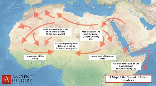 Muslim Map Of America 900.The Spread Of Islam In Ancient Africa Ancient History Encyclopedia
