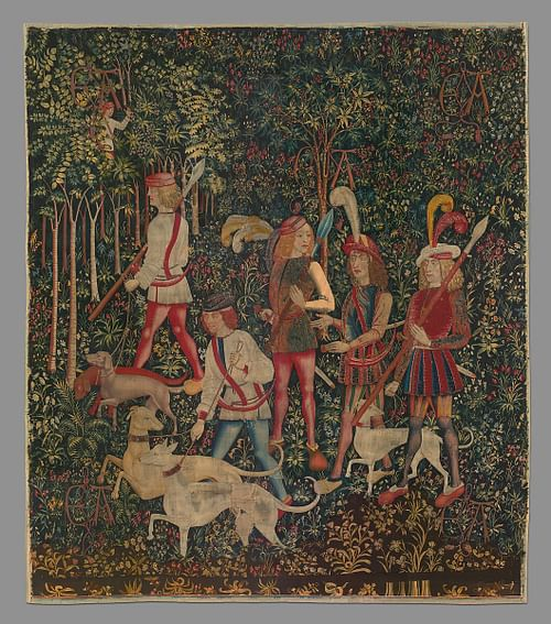 The Hunters Enter the Woods, Unicorn Tapestries
