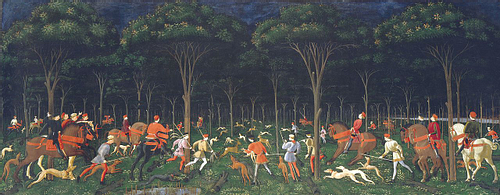 Hunt in the Forest by Paolo Uccello