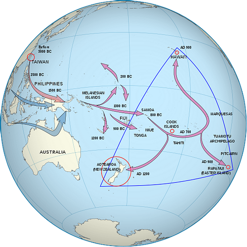 Polynesian Migration Map