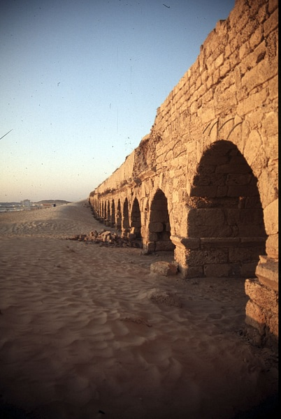 Roman Aqueduct, Caesarea (by Institute for the Study of the Ancient World)
