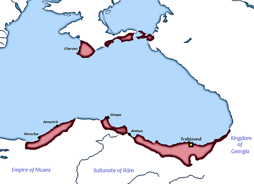 Map of Empire of Trebizond