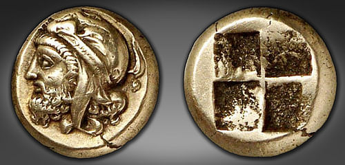 Coin Portrait of Pharnabazus, Satrap of Ionia (by Classical Numismatic Group, Copyright)