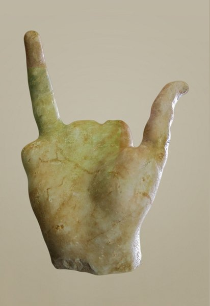 Right hand of the Nike of Samothrace