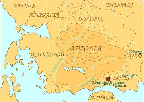 Map of Aetolia