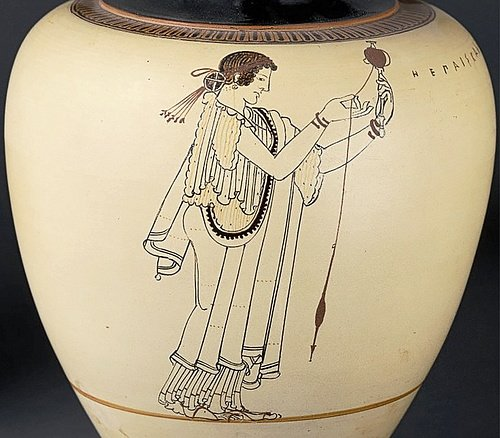 The Beautiful Child, Vase Painting