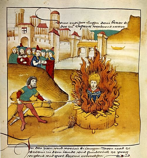 Jan Hus Being Burnt at the Stake