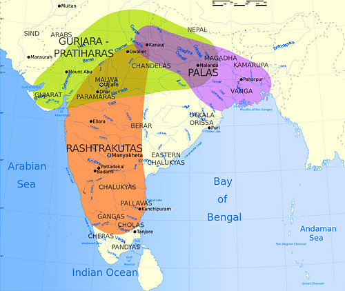 The Rashtrakuta, Gurjara-Pratihara and Pala Empires, Ancient India