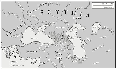 Traditional Scythian-Occupied Region East of Ukraine