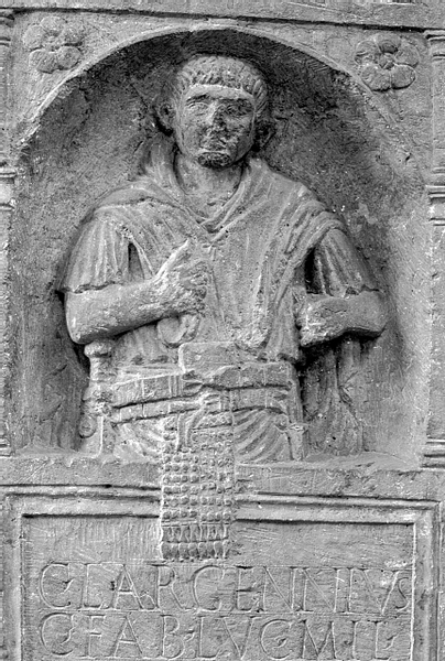 Half-figure tombstone of Gaius Largennius