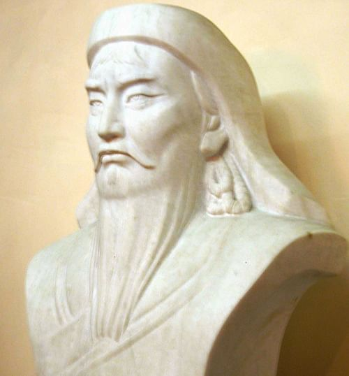 Bust of Genghis Khan (by Jim Garamone, Public Domain)