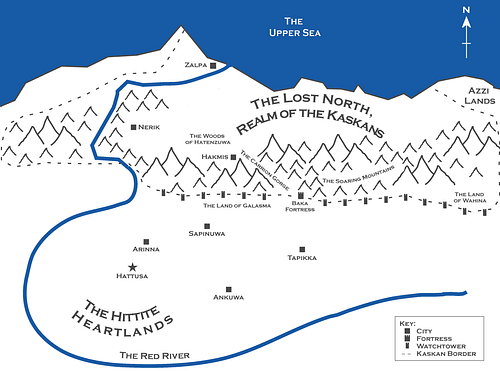 Map of the Hittite Realm